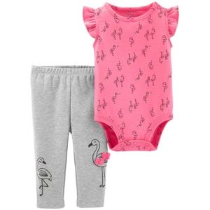 NWT Carter's Flamingo-Print 2-pc Legging Set